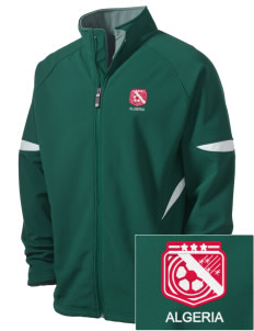 Algeria Soccer Holloway Embroidered Men's Radius Zip Front Jacket