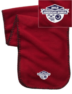 American Samoa Soccer Embroidered Fleece Scarf
