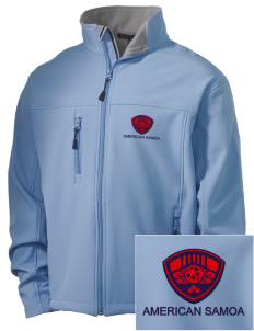 American Samoa Soccer Embroidered Men's Soft Shell Jacket