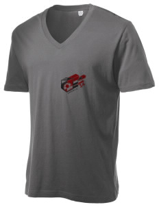 Angola Soccer Alternative Men's 3.7 oz Basic V-Neck T-Shirt
