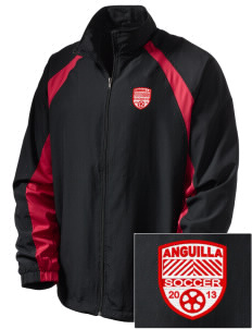 Anguilla Soccer  Embroidered Men's Full Zip Warm Up Jacket