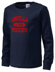Anguilla Soccer  Kid's Long Sleeve T-Shirt
