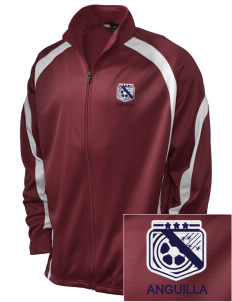 Anguilla Soccer Embroidered Holloway Men's Tricotex Warm Up Jacket