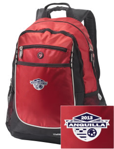 Anguilla Soccer Embroidered OGIO Carbon Backpack