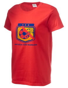 Antigua and Barbuda Soccer Women's 6.1 oz Ultra Cotton T-Shirt