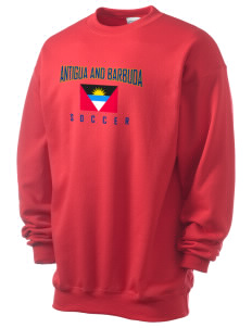 Antigua and Barbuda Soccer Men's 7.8 oz Lightweight Crewneck Sweatshirt
