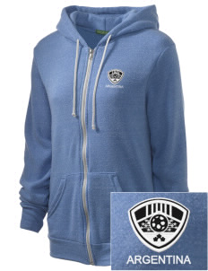 Argentina Soccer Embroidered Alternative Unisex The Rocky Eco-Fleece Hooded Sweatshirt