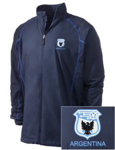 Argentina Soccer Embroidered Men's Nike Golf Full Zip Wind Jacket