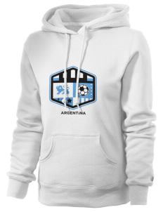 Argentina Soccer Russell Women's Pro Cotton Fleece Hooded Sweatshirt