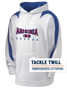 Armenia Soccer Holloway Men's Sports Fleece Hooded Sweatshirt with Tackle Twill