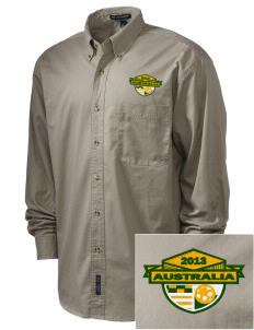 Australia Soccer Embroidered Men's Twill Shirt