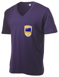 Australia Soccer Alternative Men's 3.7 oz Basic V-Neck T-Shirt