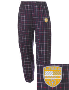 Australia Soccer Embroidered Men's Button-Fly Collegiate Flannel Pant