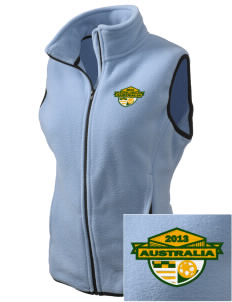 Australia Soccer Embroidered Women's Fleece Vest
