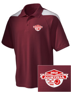 Austria Soccer Embroidered Holloway Men's Frequency Performance Pique Polo