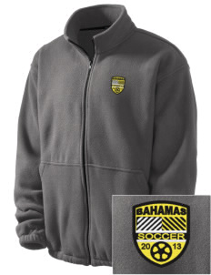 Bahamas Soccer Embroidered Men's Fleece Jacket