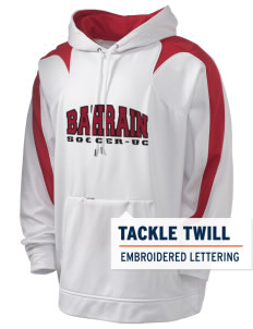Bahrain Soccer Holloway Men's Sports Fleece Hooded Sweatshirt with Tackle Twill