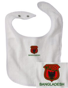 Bangladesh Soccer Embroidered Baby Snap Terry Bib