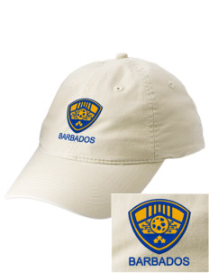 Barbados Soccer Embroidered Vintage Adjustable Cap
