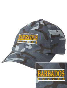 Barbados Soccer Embroidered Camouflage Cotton Cap