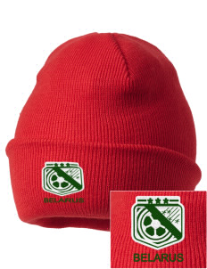 Belarus Soccer Embroidered Knit Cap