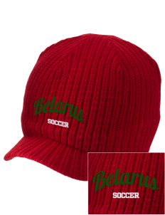 Belarus Soccer Embroidered Knit Beanie with Visor