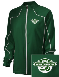 Belarus Soccer Embroidered Russell Women's Full Zip Jacket