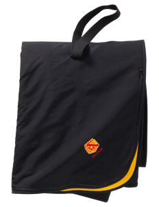 Belgium Soccer  Embroidered Fleece and Nylon Travel Blanket