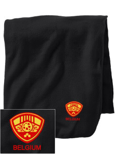 Belgium Soccer Embroidered Holloway Stadium Fleece Blanket