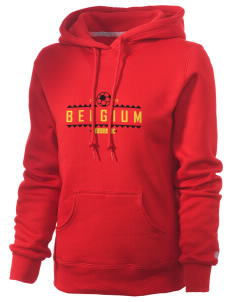 Belgium Soccer Russell Women's Pro Cotton Fleece Hooded Sweatshirt