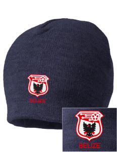 Belize Soccer Embroidered Beanie