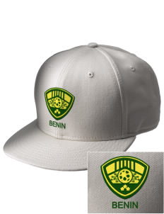 Benin Soccer  Embroidered New Era Flat Bill Snapback Cap