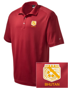 Bhutan Soccer Embroidered Nike Men's Dri-Fit Classic Polo