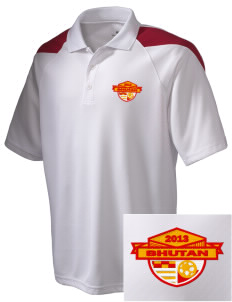 Bhutan Soccer Embroidered Holloway Men's Frequency Performance Pique Polo