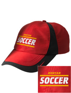 Bhutan Soccer Embroidered Nike Golf Colorblock Cap
