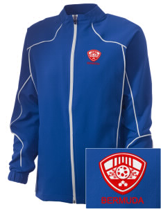 Bermuda Soccer Embroidered Russell Women's Full Zip Jacket