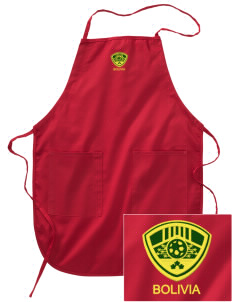 Bolivia Soccer Embroidered Full Length Apron
