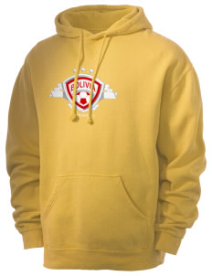 Bolivia Soccer Men's 80/20 Pigment Dyed Hooded Sweatshirt