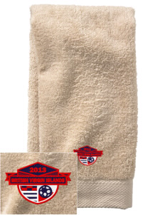 British Virgin Islands Soccer  Embroidered Zero Twist Resort Hand Towel