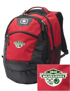 Burundi Soccer Embroidered OGIO Rogue Backpack