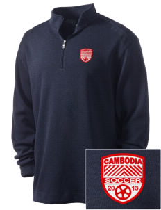 Cambodia Soccer Embroidered Nike Men's Golf Heather Cover Up