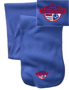 Cape Verde Islands Soccer  Embroidered Extra Long Fleece Scarf