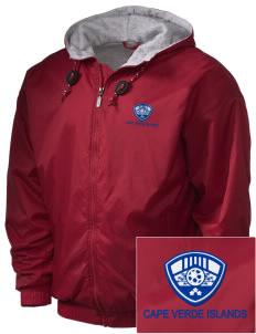Cape Verde Islands Soccer Embroidered Holloway Men's Hooded Jacket