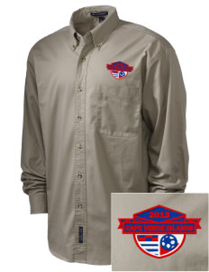 Cape Verde Islands Soccer Embroidered Men's Twill Shirt
