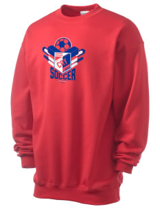 Cayman Islands Soccer Men's 7.8 oz Lightweight Crewneck Sweatshirt