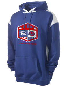 Cayman Islands Soccer Men's Pullover Hooded Sweatshirt with Contrast Color