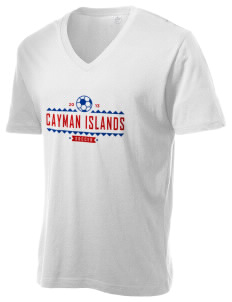 Cayman Islands Soccer Alternative Men's 3.7 oz Basic V-Neck T-Shirt