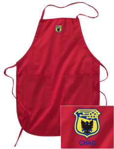Chad Soccer Embroidered Full Length Apron