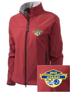 Chad Soccer Embroidered Women's Glacier Soft Shell Jacket