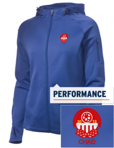 Chad Soccer Embroidered Women's Tech Fleece Full-Zip Hooded Jacket